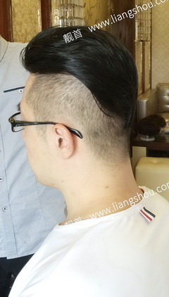 大面积-背头-光头-真头发假发套案例图