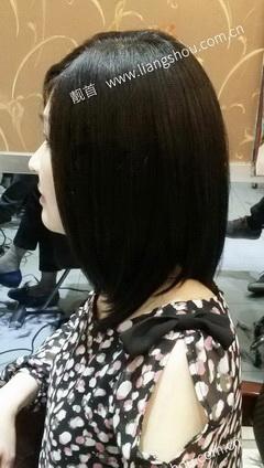 女士-长发-假发头顶补发块图