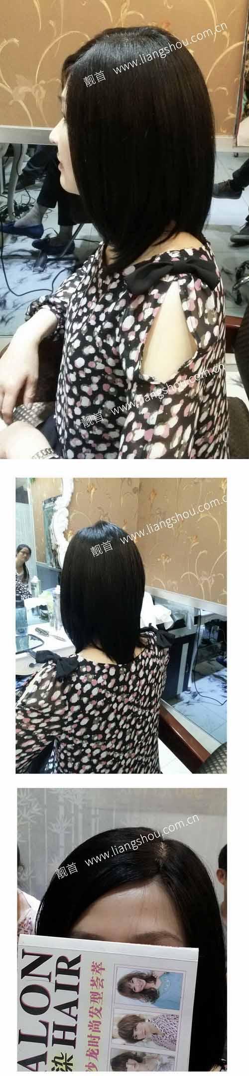 女士-长发--真人发假发织发补发案例图