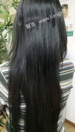 长发-假发头顶补发块-实拍案例